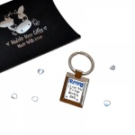 Blue Hearts Daddy I Love You To The Moon & Back Metal Keyring In Gift Box